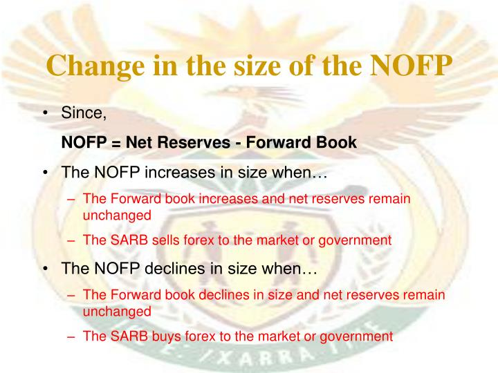 Change in the size of the NOFP