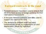 forward contracts the rand