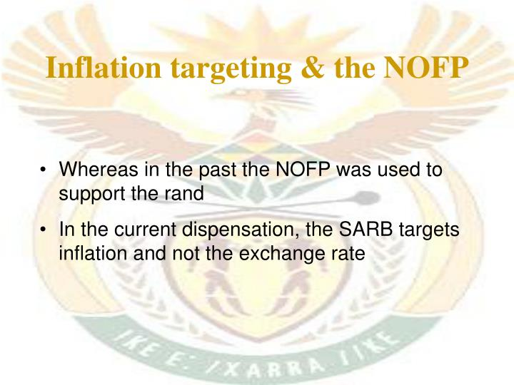 Inflation targeting & the NOFP