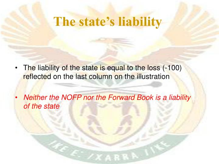 The state's liability