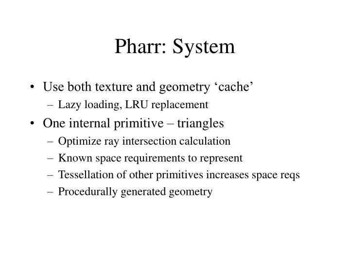 Pharr: System
