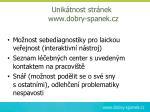 unik tnost str nek www dobry spanek cz