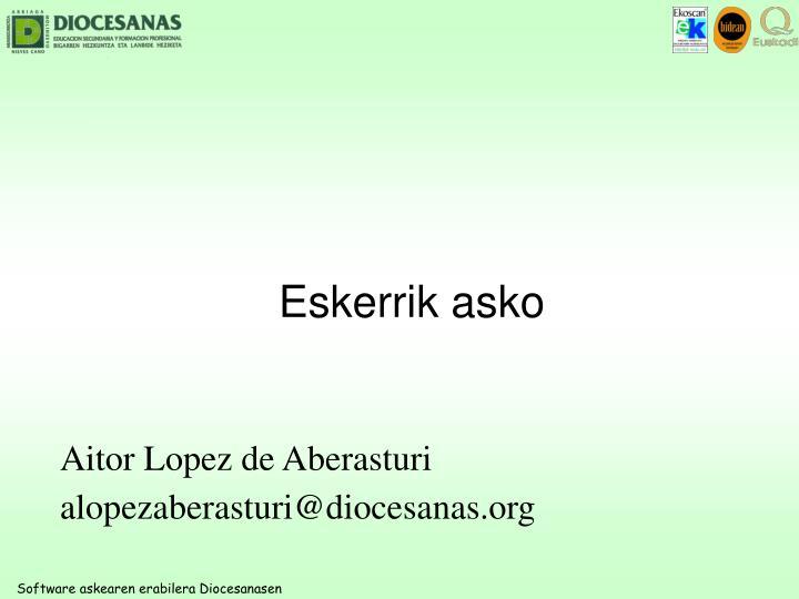 Aitor Lopez de Aberasturi