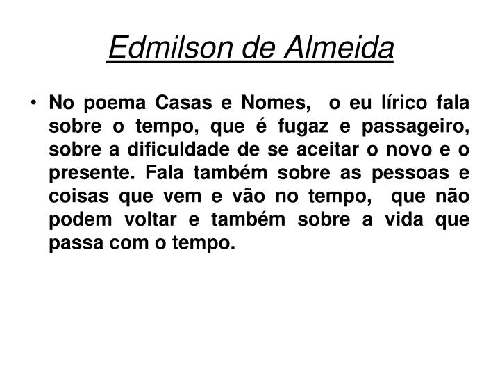 Edmilson de Almeida