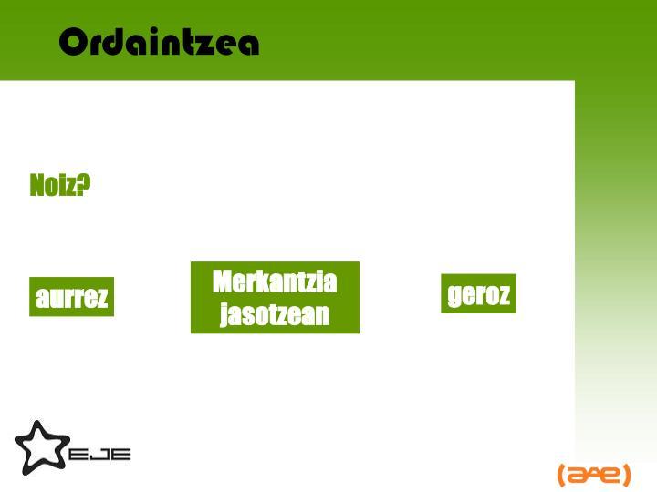 Ordaintzea