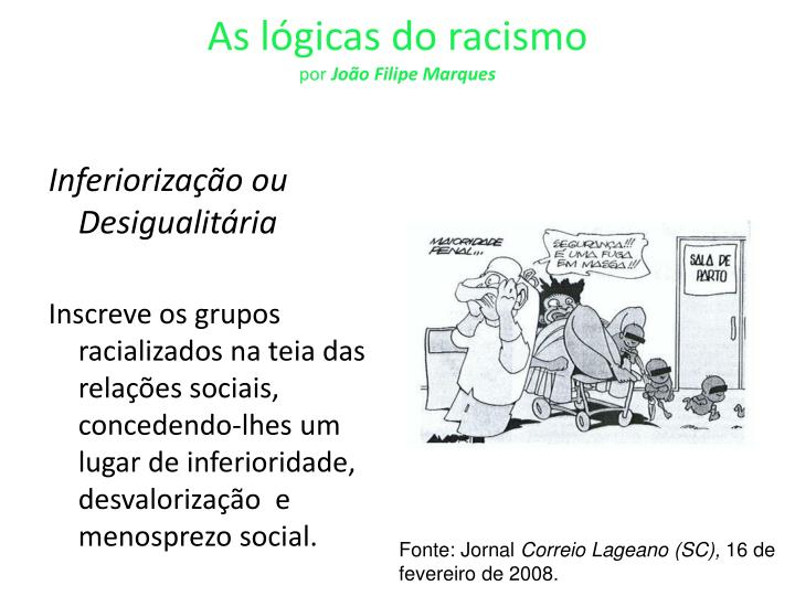 As lógicas do racismo