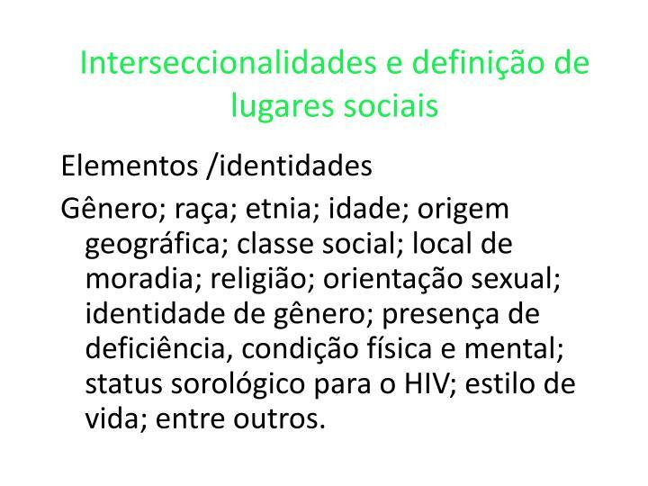 Interseccionalidades