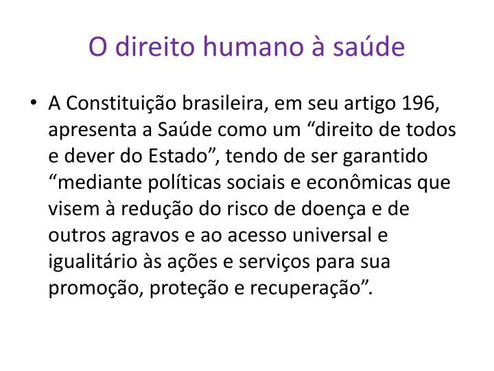 O direito humano à saúde