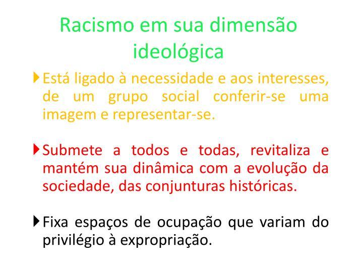 Racismo em sua dimensão ideológica
