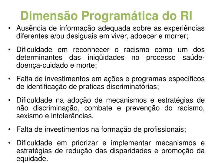 Dimensão Programática do RI