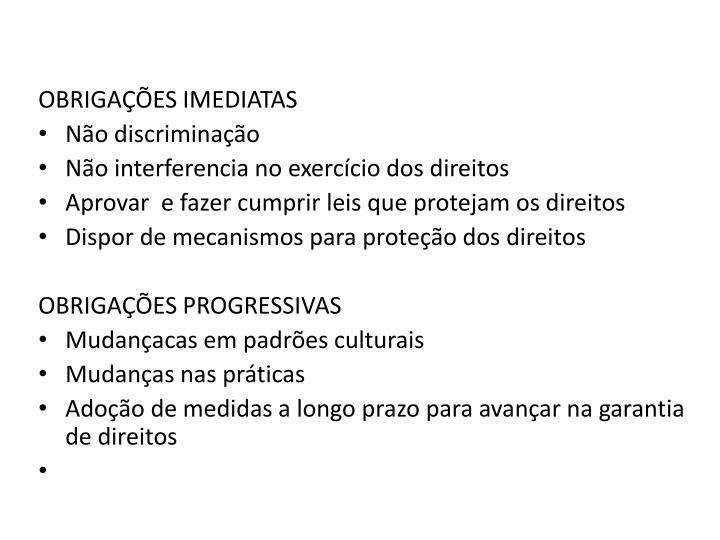TIPOS DE OBRIGAÇÕES