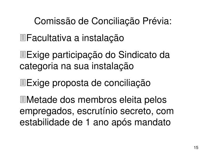Comisso de Conciliao Prvia: