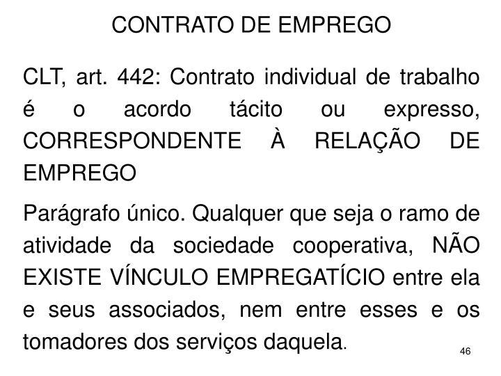 CONTRATO DE EMPREGO