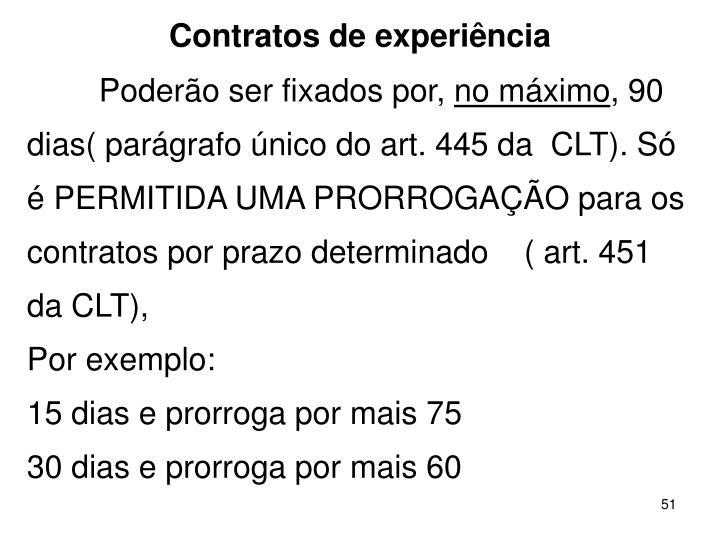 Contratos de experincia