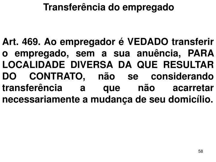 Transferncia do empregado