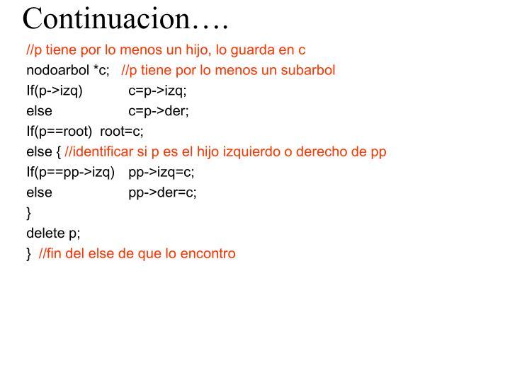 Continuacion….