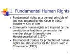 1 fundamental human rights