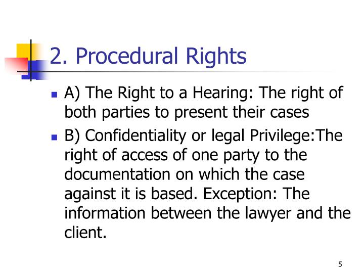 2. Procedural Rights