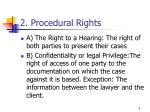 2 procedural rights