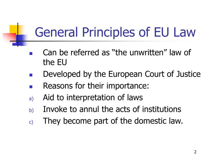 General Principles of EU Law