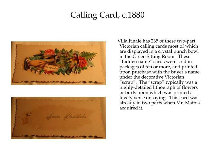 Calling Card, c.1880