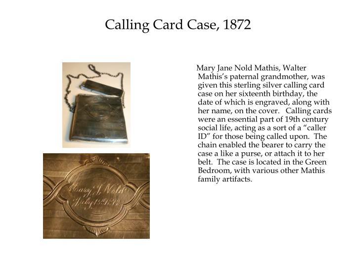 Calling Card Case, 1872