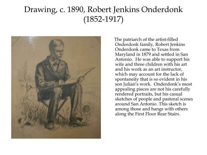 Drawing, c. 1890, Robert Jenkins Onderdonk (1852-1917)