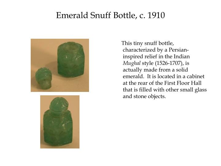 Emerald Snuff Bottle, c. 1910