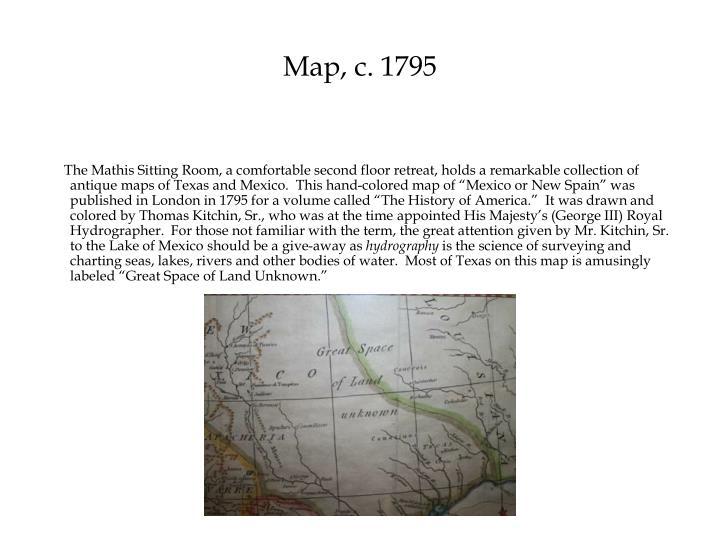 Map, c. 1795