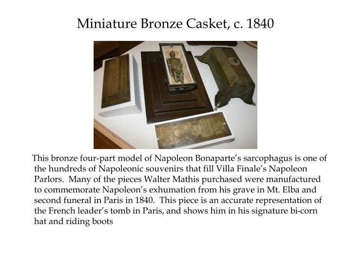 Miniature Bronze Casket, c. 1840