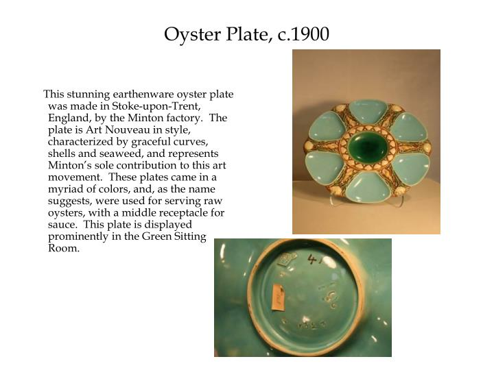 Oyster Plate, c.1900