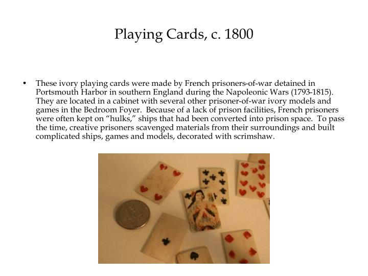 Playing Cards, c. 1800