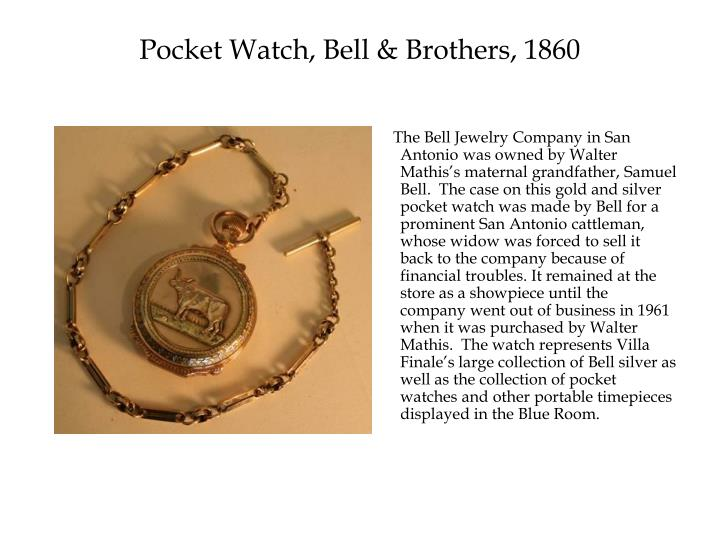 Pocket Watch, Bell & Brothers, 1860