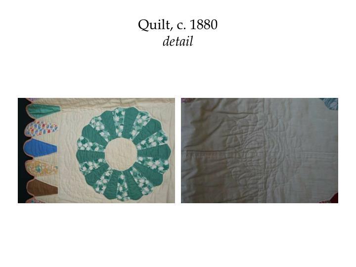 Quilt, c. 1880