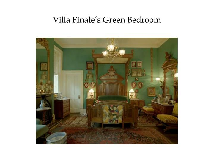 Villa Finale's Green Bedroom