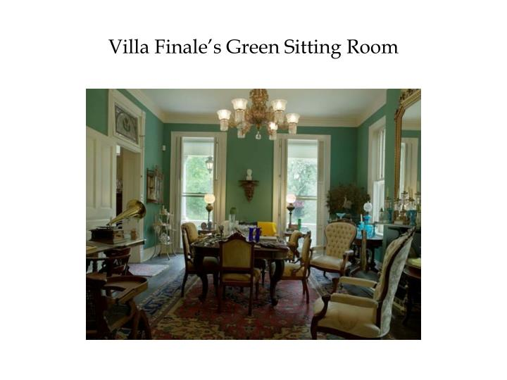Villa Finale's Green Sitting Room