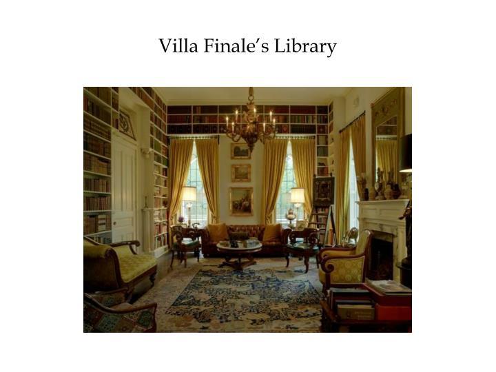 Villa Finale's Library