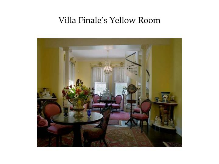 Villa Finale's Yellow Room