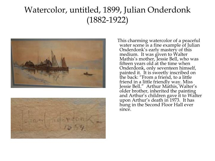 Watercolor, untitled, 1899, Julian Onderdonk (1882-1922)