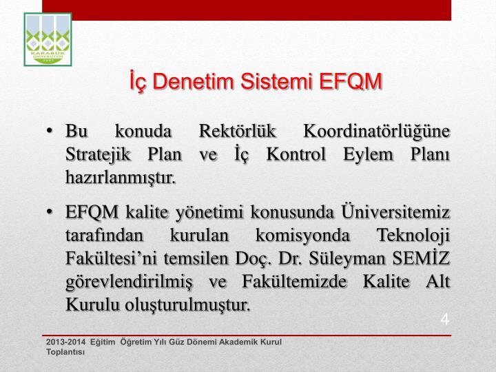 İç Denetim Sistemi EFQM