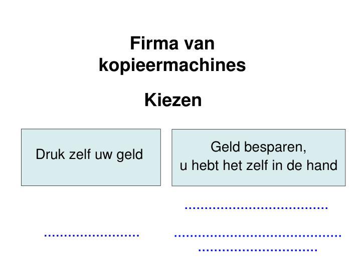 Firma van kopieermachines