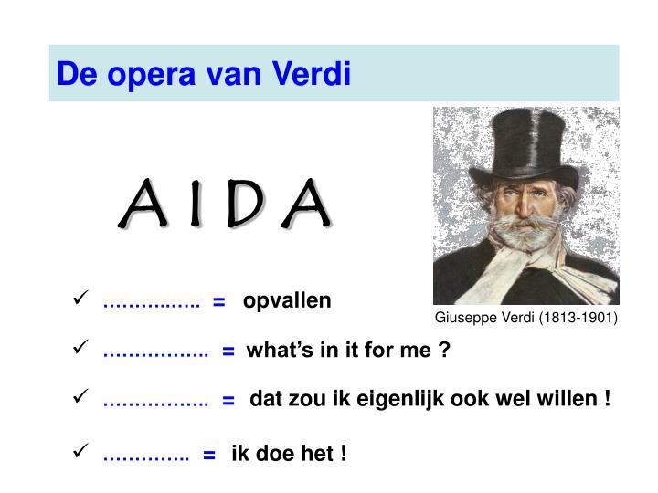 De opera van Verdi