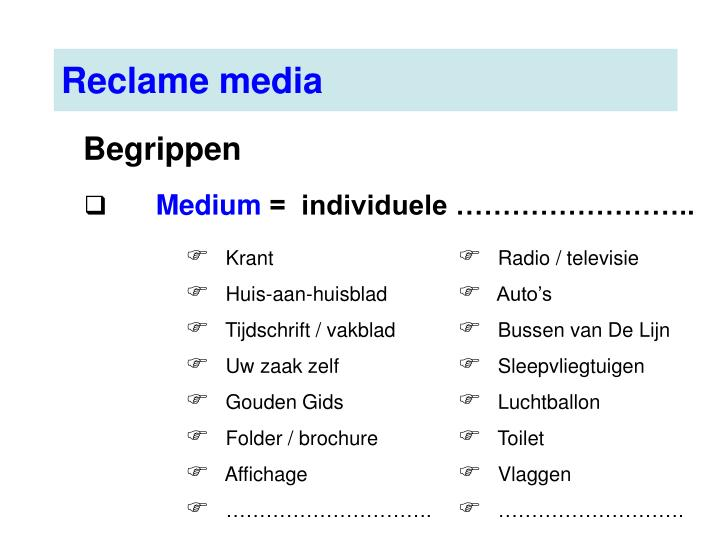 Reclame media