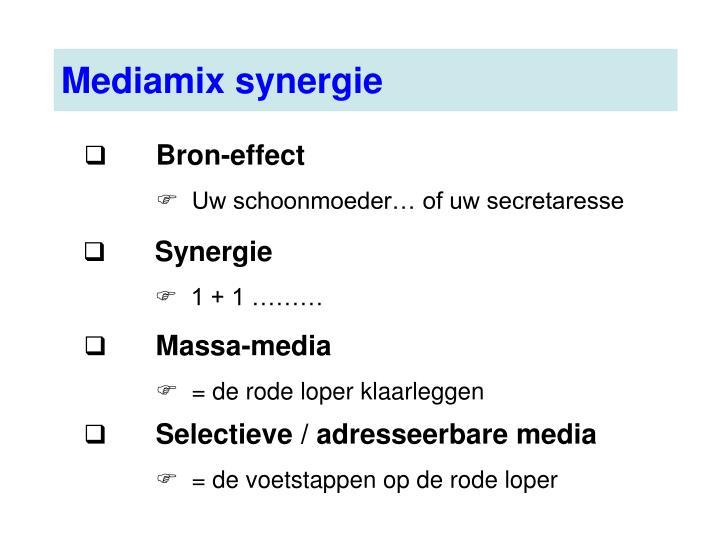 Mediamix synergie