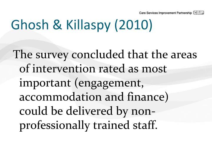 Ghosh & Killaspy (2010)