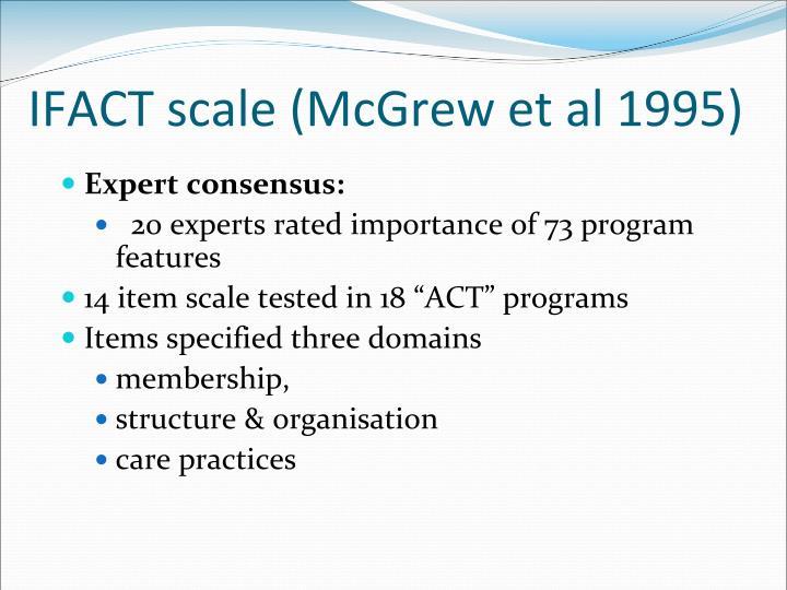 IFACT scale (McGrew et al 1995)