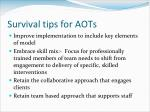 survival tips for aots