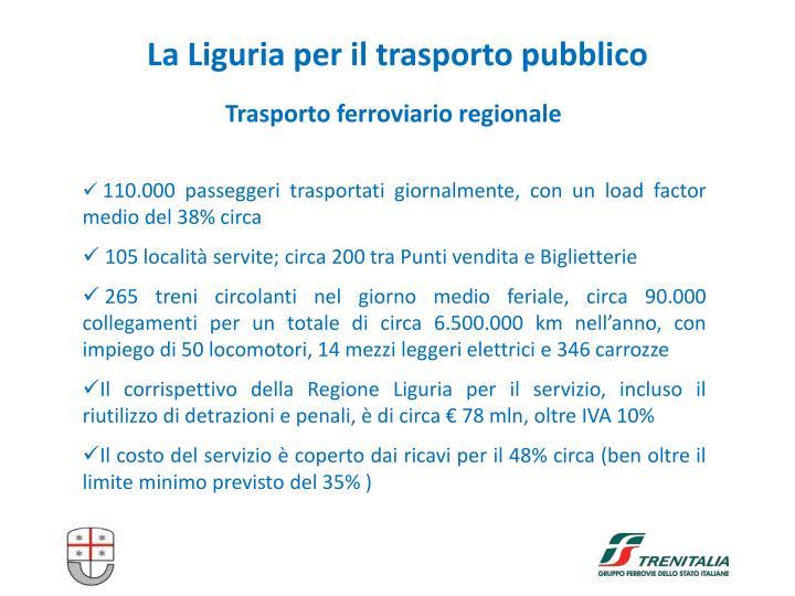 La Liguria per il trasporto pubblico