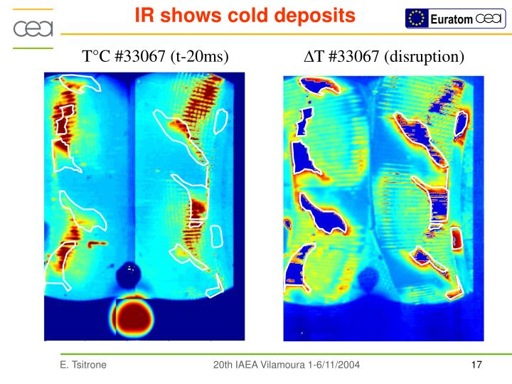 IR shows cold deposits