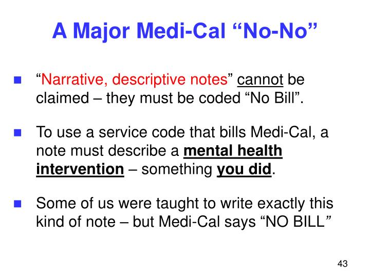 "A Major Medi-Cal ""No-No"""